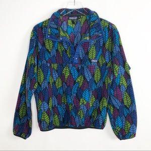 PATAGONIA *Flawed* Snap-T Fleece Pullover Leaves
